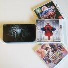 Nintendo New 3DS XL Black w Amazing Spiderman  & More !!