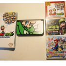 Nintendo New 3DS XL Black Luigi Lover's  Bundle !