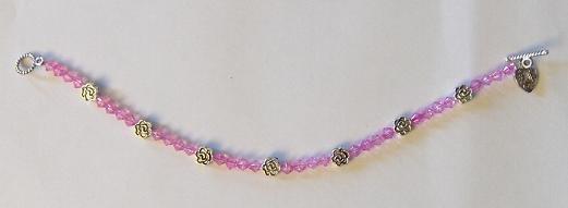 Flower Bracelet: Pink