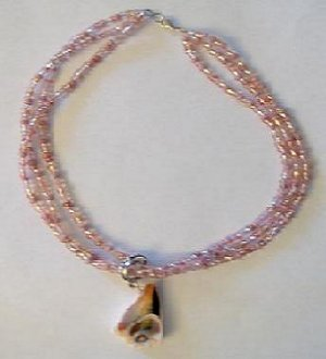 Pink Seashell Necklace