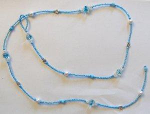 String Through Necklace: Blue