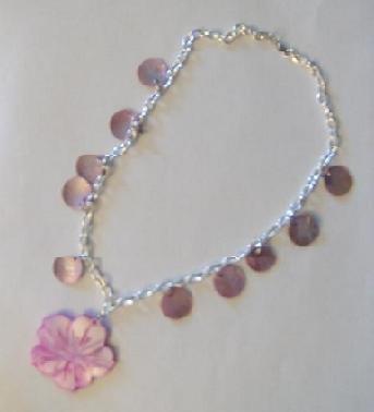 Flower Seashell Necklace