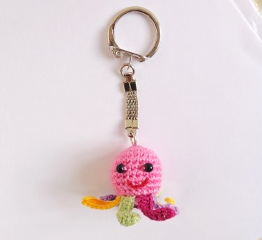 Keychain Squidgy Octopus with colorful tentacles Of Mice & Men Keychain