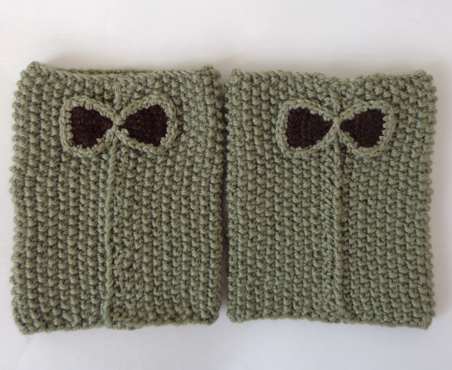 Knit Boot Cuffs With Bow Boot Socks Boot Topper Leg