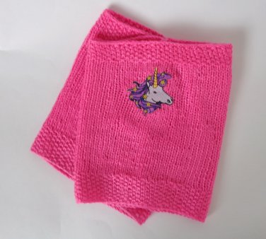 Valentine Knitted Boot Cuffs With Unicorn Socks Boot Topper Leg  Pink