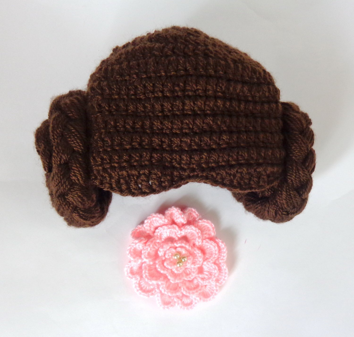 Princess Leia Crocheted Baby Hat From Star Wars Princess Queen Hat Wig - 3-10 years
