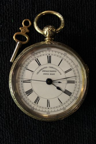 Celebrated Chronograph �Specially Examined� 18 size, key wind Pocket Watch (Pocket Watches)