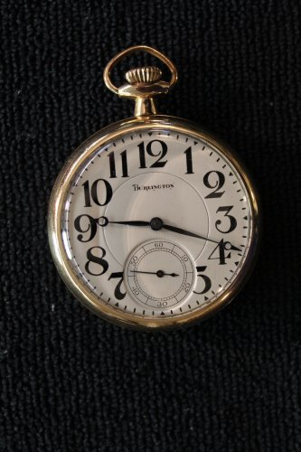 Burlington 21 jewel 16 size, 1920 Pocket Watch (Pocket Watches)