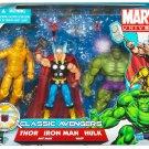 Classic Avengers Thor, Iron Man, Hulk with Ant-Man & Wasp Marvel Universe Action Figure