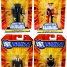 Gotham City Criminals DC Universe JLU (Clock King, Harley Quinn, Bane & Scarecrow) Action Figures