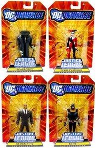 Gotham City Criminals DC Universe JLU (Clock King, Harley Quinn, Bane & Scarecrow) Action Figures