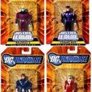 Legion Super Heroes DC Universe JLU (SaturnGirl, CosmicBoy, LightningLad & Braniac5) Action Figures