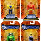 Justice Guild DC Universe JLU (Green Guardsman, Black Siren, Tom Turbine & Streak!) Action Figures