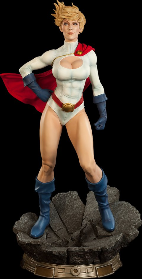 Power Girl Premium Format Figure Statue Sideshow Exclusive