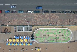 Aerial Photo of Crazy Golf Brighton seafront 2005