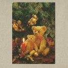 CHRISTMAS TEDDY BEARS POSTCARD FROM AMSTERDAM 1992