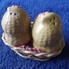 PEANUTS IN BASKET SALT AND PEPPER SHAKERS CRUET SET