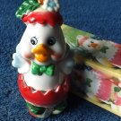 DELILAH THE DUCK STACKING SALT AND PEPPER SHAKERS CRUET SET