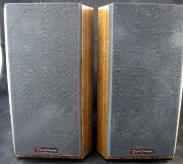 Set Of 2 Venturi V52 Bookshelf Speakers BIC America Wood Black Way Nice