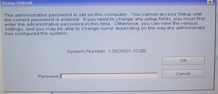 Dell BIOS Master Password SOFTWARE 1D3B, 1F5A, 3A5B & HDD