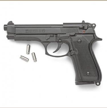 Replica M92 Semi Automatic Blank Firing Gun Blued Finish