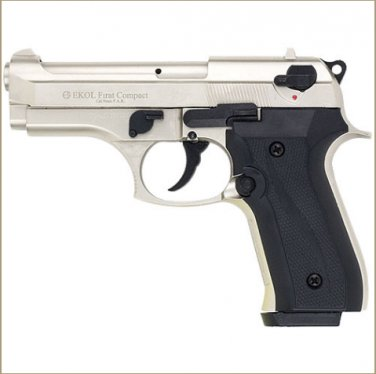 Firat Compac 92 Blank Firing Replica Gun Satin Finish