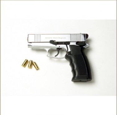 Sava Magnum Blank Firing Pistol Nickel Finish