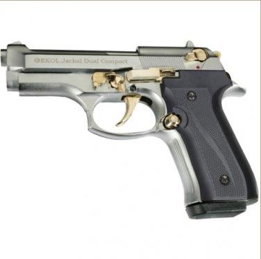 Jackal Compact Full Automatic Blank Firing Gun Chrome - Gold Finish