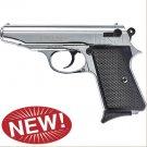 Majarov Semi Automatic Blank Firing Pistol Nickel Finish