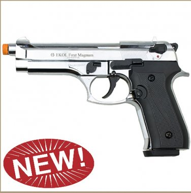 Firat Magnum 92 Front Firing Blank Gun High Polish Nickel Finish