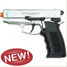 Sava Magnum Front Firing Blank Pistol High Polish Nickel Finish