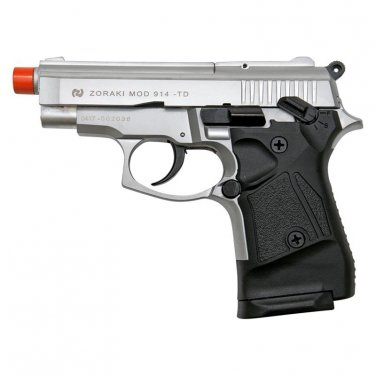 Zoraki Front Firing M914 Silver Finish 9mm Blank Gun Pistol