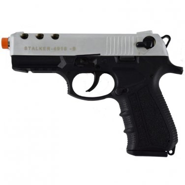 Stalker 4918 Silver Finish - 9mm Blank Firing Replica Zoraki Gun