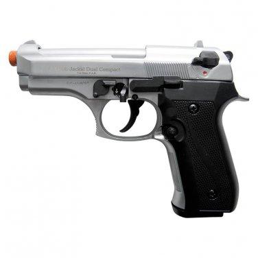 Jackal Compact Nickel Finish - Full Auto Front Firing Blank Pistol Gun