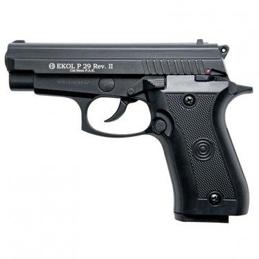 P29 Rev2 Semi Automatic Blank Firing Pistol Matte Black Finish
