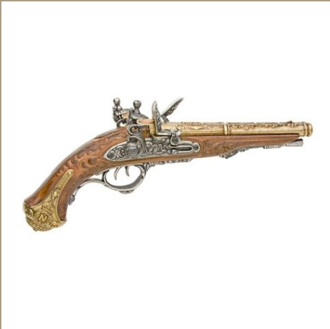 Colonial Napoleonic Double Barrel Flintlock Non-Firing Replica