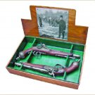 Colonial 1865 Italian Percussion Dueling Flintlock Set Non-Firing Replica