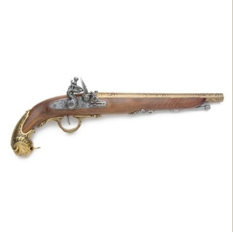Colonial 18TH Century Replica German Flintlock Pistol Non-Firing Gun