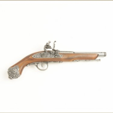 Colonial Replica 18TH Century Flintlock Pistol Non-Firing Gun