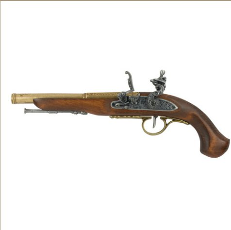 Left-Handed English Flintlock Brass Finish