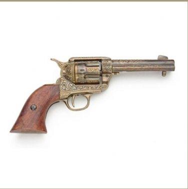 Old West Replica Fast Draw Gold Engraved Revolver Non-Firing Gun