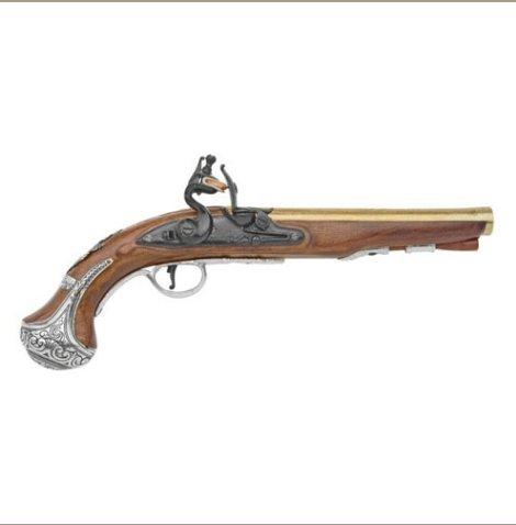 Replica Colonial George Washing Flintlock Pistol Non-Firing Replica