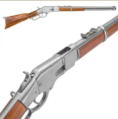 Old West Replica M1866 Gray Finish Lever Action Rifle Non-Firing Gun