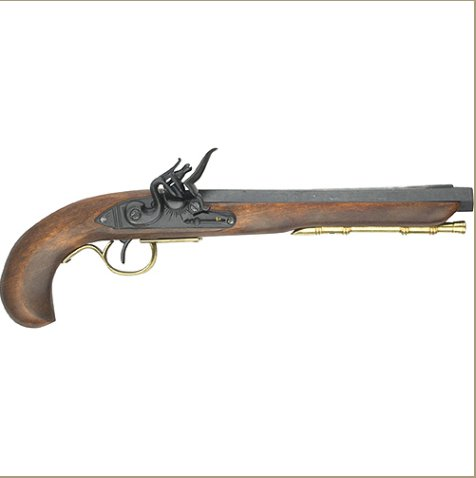 KENTUCKY FLINTLOCK PISTOL BRASS