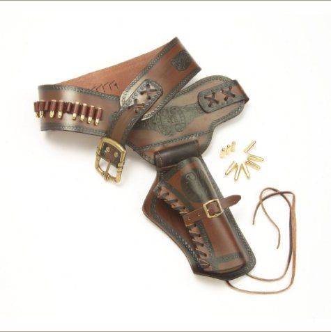 Old West Leather Holster With Replica Bullets