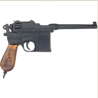 WWII 1896 Mauser Automatic Pistol Non-Firing Replica - Laquered Grips