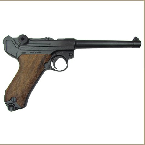Replica Denix German Luger Naval P-08 WWI - WWII Non-Firing Replica Wood Grips