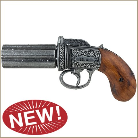 British Pepperbox Revolver - Grey