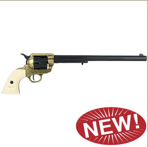 M1873 Single Action Buntline Special Revolver Non-Firing Gun - Black/Gold