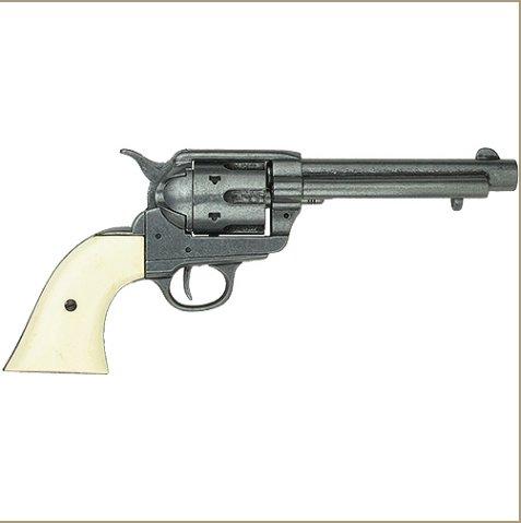 Old West Frontier Replica Grey Finish, Ivory Grips Revolver Non-Firing Gun